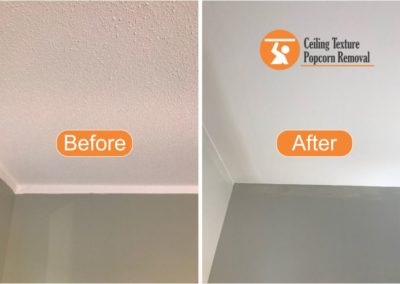 Before and after Photos of Ceiling popcorn removal - Vancouver BC - By Ceiling Texture Popcorn Removal 1