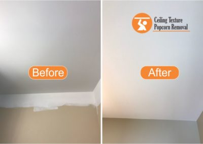Before and after Photos of Ceiling popcorn removal - Vancouver BC - By Ceiling Texture Popcorn Removal 2