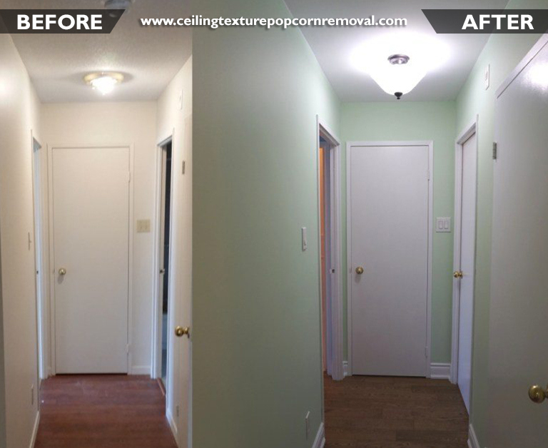 Ceiling Texture Popcorn Removal Vancouver Before After Photos