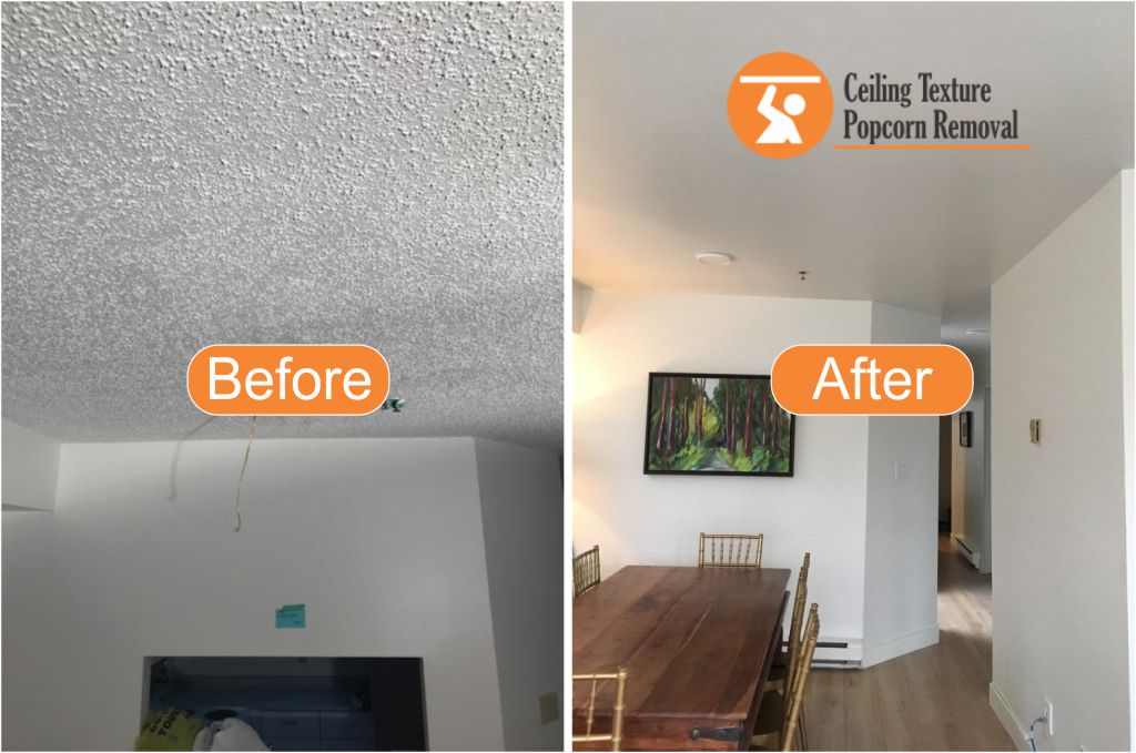 Before And After Photos Of Ceiling Popcorn Removal Vancouver Bc By Texture